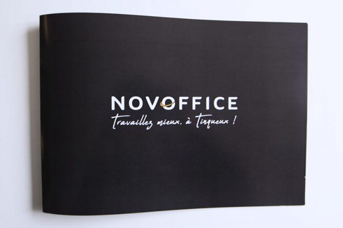réalisation dépliants novoffice pour fayet finance impression livret communication publicité