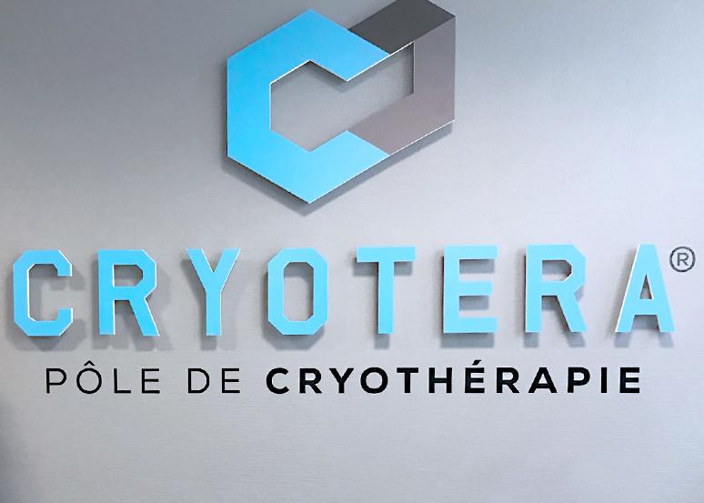 réalisation et pose de lettres pour cryotera le pole rémois de cryothérapie