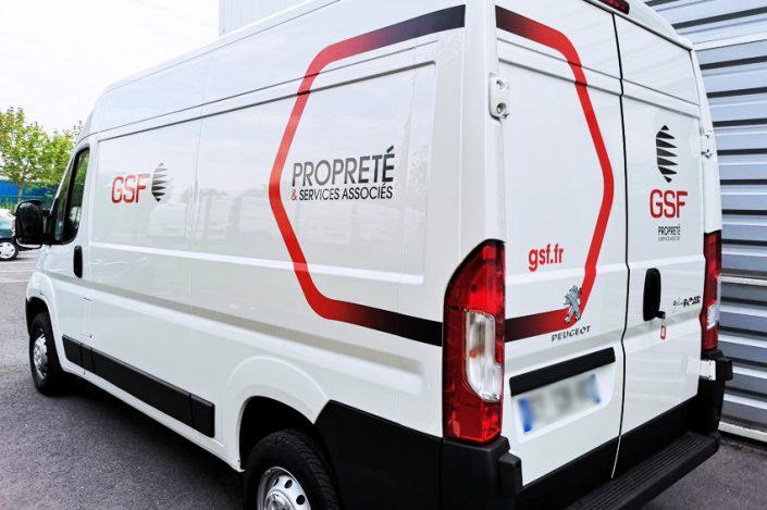 marquage véhicule utilitaire peugeot boxer adhésifs communication publicité