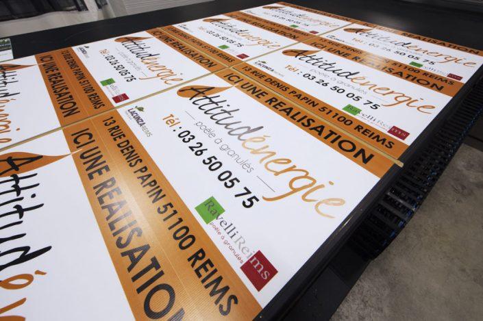 impression panneaux akylux mimaki jfx 500-2131 encre uv attitud'énergie signalétique communication publicité