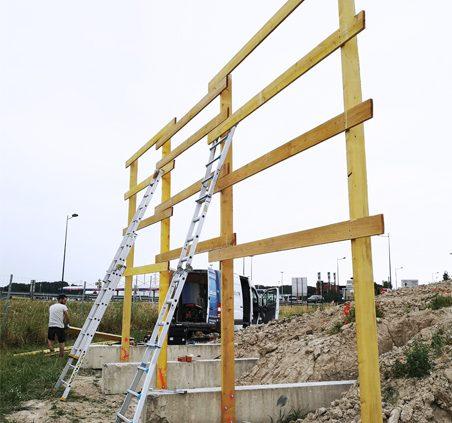 pose panneau grand format 9x3m signalétique cushman & wakefield immobilier communication reims publicité