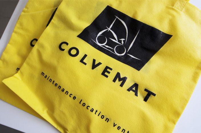 réalisation de tote bag sacs tissus objets publicitaires colvemat communication publicité