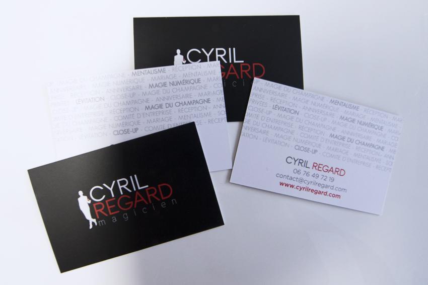 Realisation De Plaquettes Et Cartes Visite Pour Cyril Regard Magicien