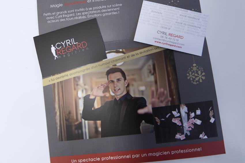 Ralisation De Plaquettes Et Cartes Visite Pour Cyril Regard Magicien