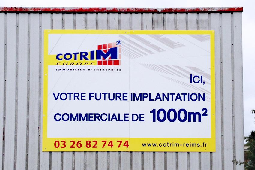réalisation et pose d'un panneau grand format 3x2 pour Cotrim Europe