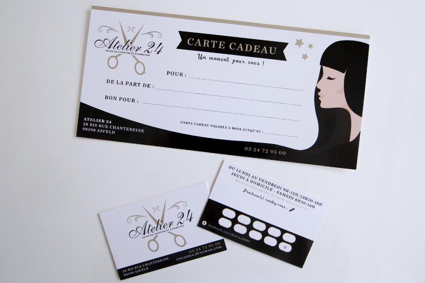 cartes de visite cartes cadeau atelier 24 reims publicit. Black Bedroom Furniture Sets. Home Design Ideas