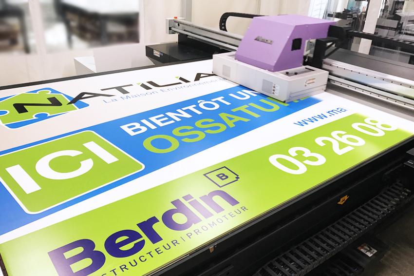 impression akylux grand format 3x2 pour notre client Berdin projet Natilia