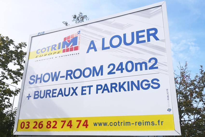 réalisation et pose d'un panneau grand format 4x3 pour notre client Cotrim Europe