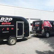 marquage véhicule remorque B2P adhésifs reims publicité