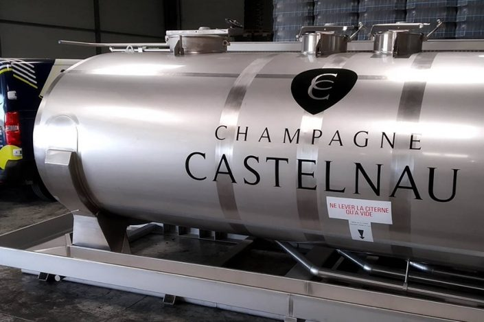 marquage citerne champagne castelnau reims adhésif