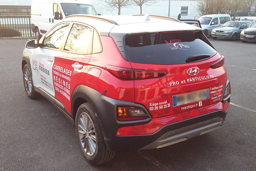 marquage véhicule marzin pro adhésif communication reims publicité
